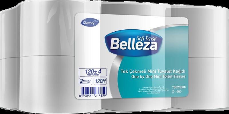12'li Belleza Tek Çekmeli Mini Tuvalet Kağıdı