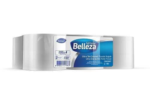 6'lı Belleza Ultra Tek Çekmeli Tuvalet Kağıdı