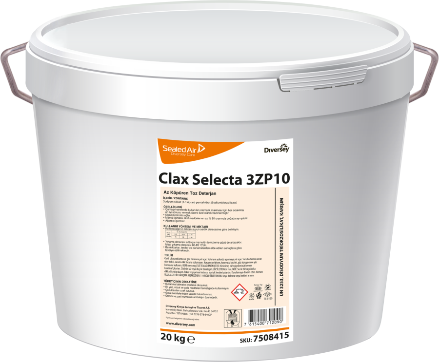 Clax Selecta 3ZP10 Az Köpüren Ana Yıkama Deterjanı 20 kg