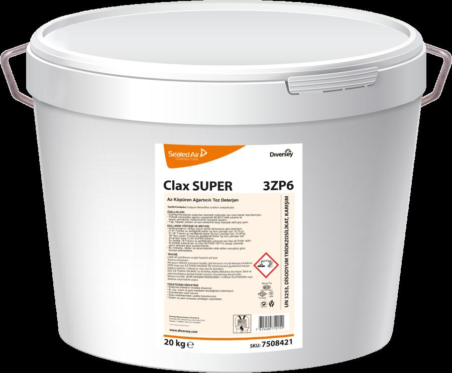 Clax Super 3ZP6 Az Köpüren Ağartıcılı Ana Yıkama Deterjanı 20 kg