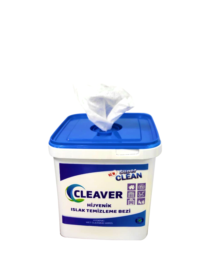 Cleaver Hijyenik Alkol Bazlı Islak Temizleme Bezi