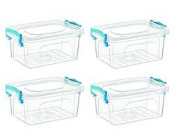 Çankaya Plastik - Dikdörtgen Saklama Kabı (1 Lt) 4'lü