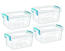 Çankaya Plastik - 4'lü Dikdörtgen Saklama Kabı (10Lt )
