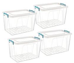 Çankaya Plastik - Dikdörtgen Saklama Kabı 30Litre 4'lü