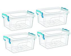Çankaya Plastik - 4'lü Dikdörtgen Saklama Kabı (3,5 Lt)