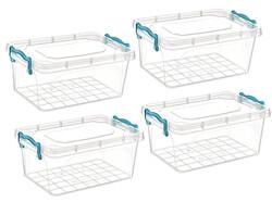 Çankaya Plastik - Dikdörtgen Saklama Kabı (5,5 Lt) 4'lü