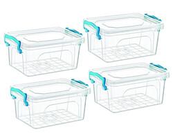 Çankaya Plastik - 4'lü Dikdörtgen Saklama Kabı (7,5 Lt)