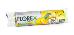 Florex - Limon Kokulu Büzgülü Büyük Boy Çöp Torbası