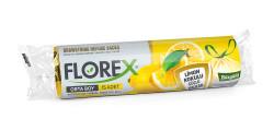 Florex - Limon Kokulu Büzgülü Orta Boy Çöp Torbası