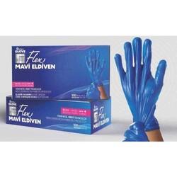 Diğer - Reflex Glove Flex Pudrasız Eldiven Mavi