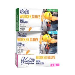 - Reflex Winlyex Worker Glove Pudrasız Sarı Eldiven L-Xl Beden 50li