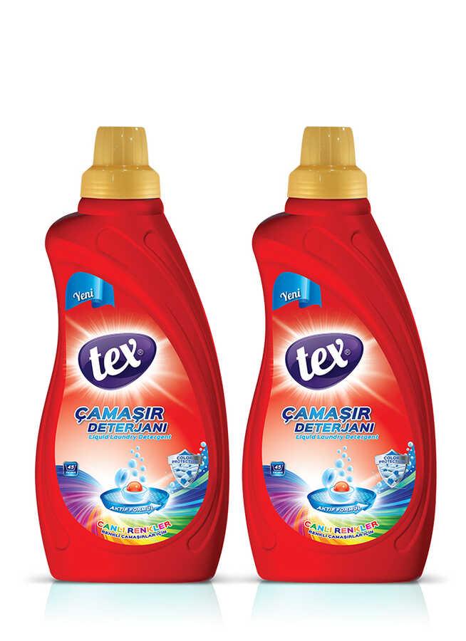2'li Sıvı Çamaşır Deterjan Canlı Renkler