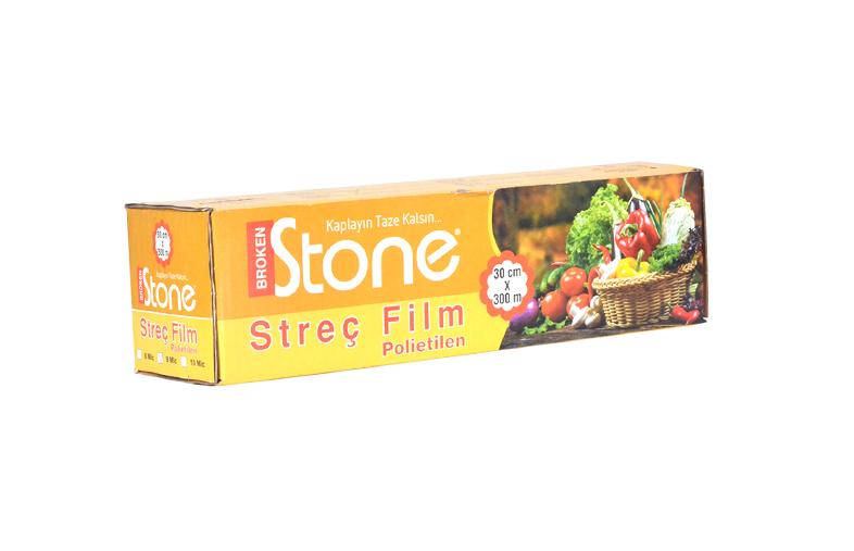 Stone P.E (Gıda) Streç 30cmx300m 8 mic.