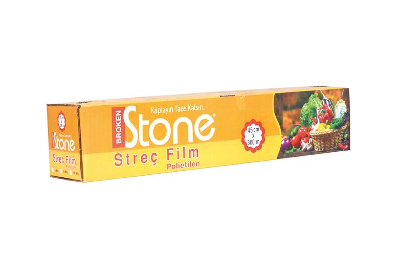 Stone P.E (Gıda) Streç 45cmx300m 8 mic.