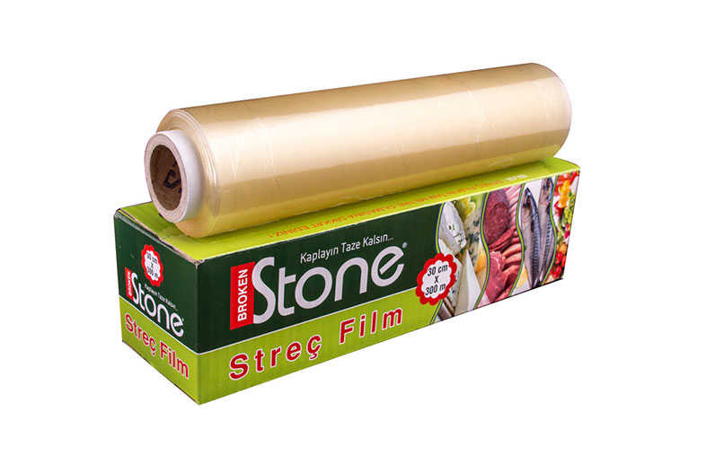 Stone Pvc Streç Kutulu 30cmx300mt 8 mic.