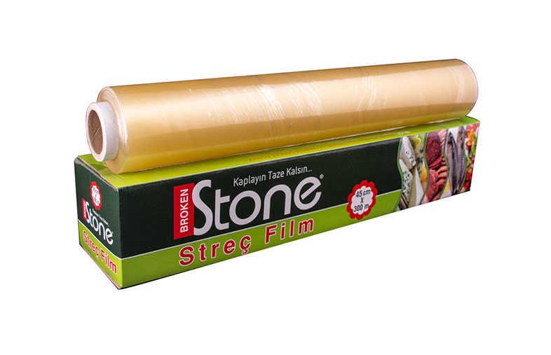 Stone Pvc Streç Kutulu 45cmx300mt 8 mic.