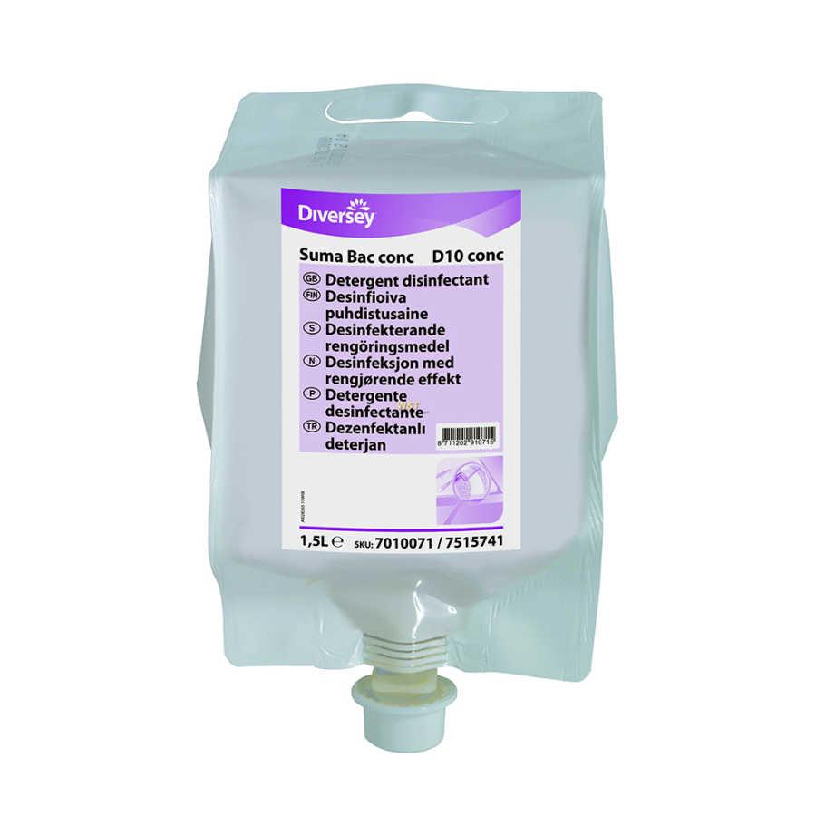 Suma Bac Conc D10 Konsantre Dezenfektanlı Deterjan 1,5KG