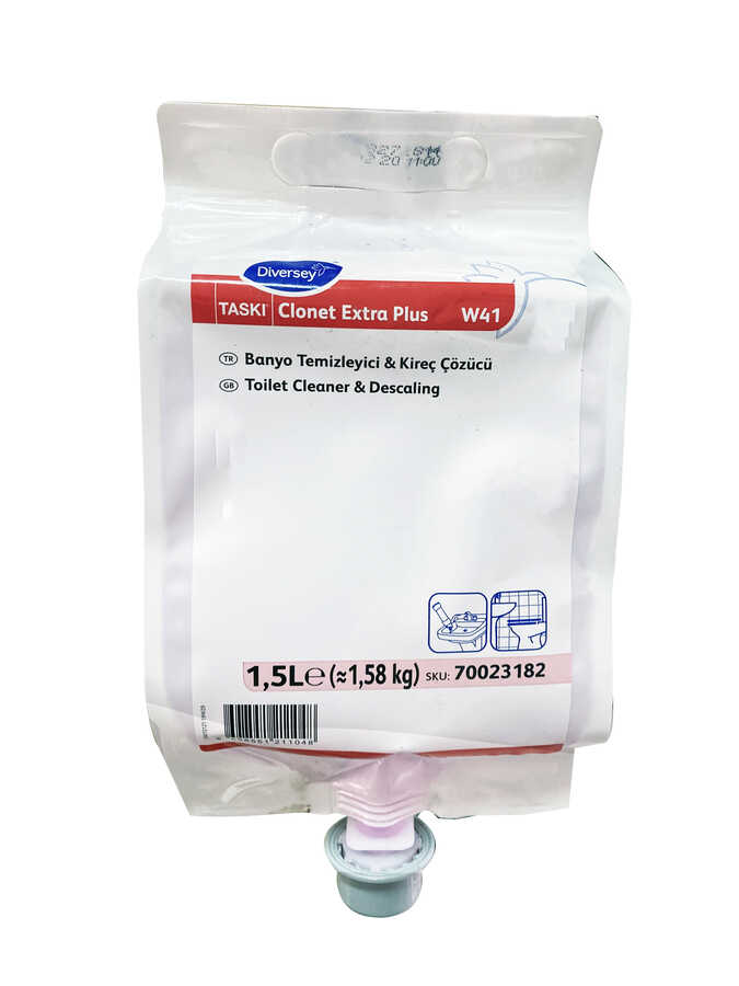 Taski Clonet Extra Plus Konsantre Kireç Çözücü/Banyo Temizleyicisi 1.5lt (2'li)