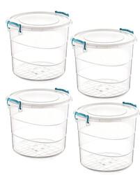 Çankaya Plastik - Yuvarlak Multi Box (7 Lt) 4'lü