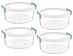 Çankaya Plastik - 4'lü Yuvarlak Saklama Kabı (0,6 Lt)