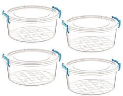 Çankaya Plastik - Yuvarlak Saklama Kabı (2,2 Lt) 4'lü
